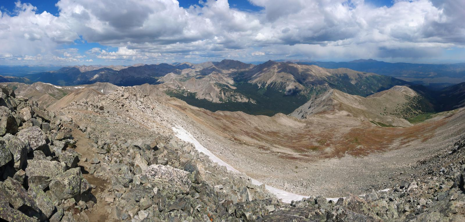 Panorama from the top of Mt. Yale